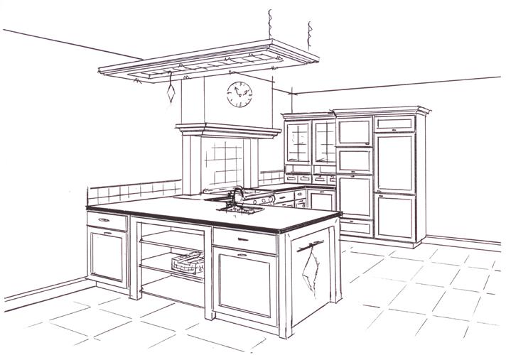 keuken-tekening