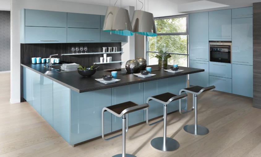 Keuken Blauw Groen : Blauw Keuken : Moderne keukens beleef je bij Keukenhuiz in De